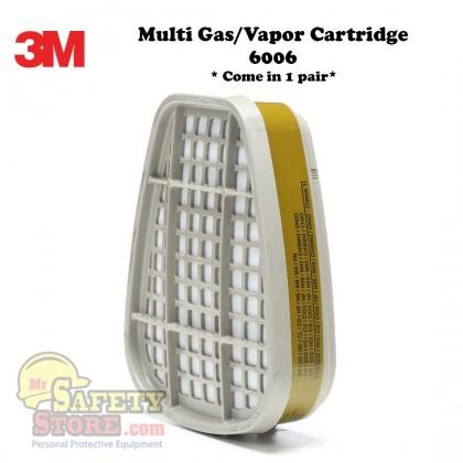 3M Multi Gas/Vapor Cartridge 6006 (2 Pcs/pack)