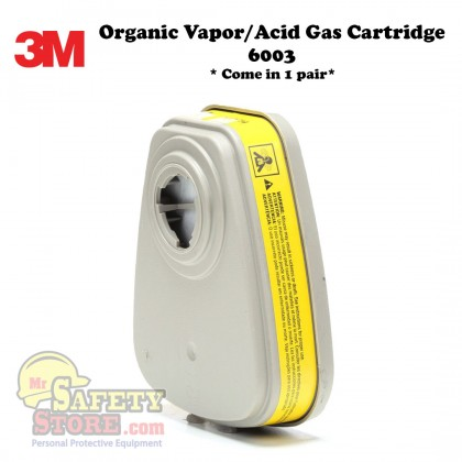 3M Organic Vapor/Acid Gas Cartridge 6003 (2 Pcs/Pack)