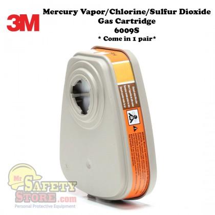 3M Mercury Vapor/Chlorine/Sulfur Dioxide Gas Cartridge 6009S