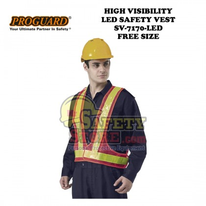 Proguard High Visibility LED Safety Vest SV-7170-LED (Free Size)