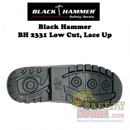 Black Hammer 2000 Series Low Cut Lace up Safety Shoes BH2331