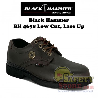 Black Hammer 4000 Series Low cut Lace up Safety Shoes BH4658