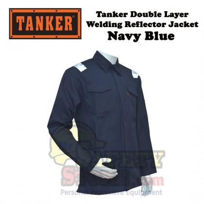 Tanker Double Layer Welding Jacket -Navy Blue (M-4XL)