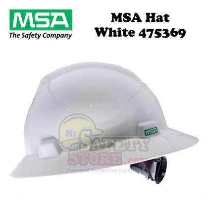 MSA V-Gard Full Brim Hard Hats - White 475369