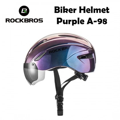 ROCKBROS Biker Helmet A-98  (EPS Integrally-molded Breathable Goggles Lens A)