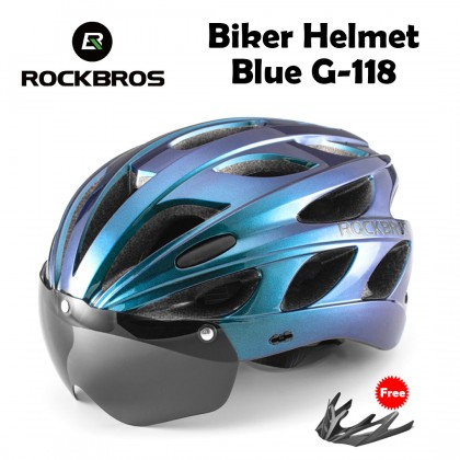 Rockbros biker helmet G-118 (Cycling Bike Helmet + Visor)