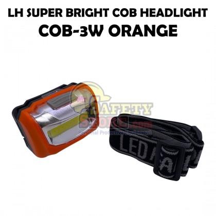 LH COB-3W Super Bright COB Headlight - Orange