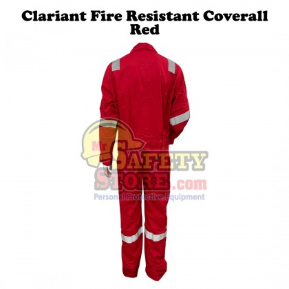 Clariant Fire Resistant Coverall- Red