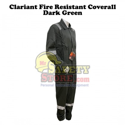 Clariant Fire Resistant Coverall - Dark Green